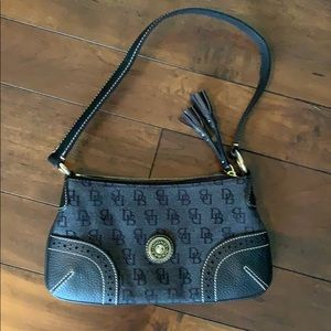 Dooney Bourke slim shoulder navy blue  purse